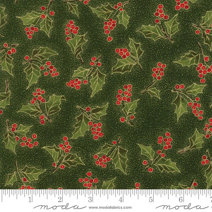 MAGNOLIA METALLICS EVERGREEN WITH HOLLY 33243-13M