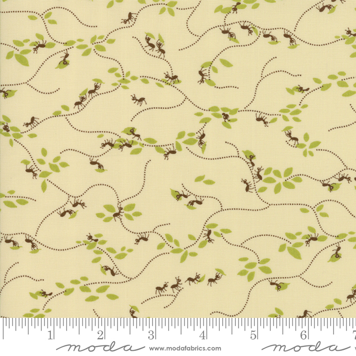 Ants and Green Leaves on Cream:  Lucky Day by MoMo for Moda