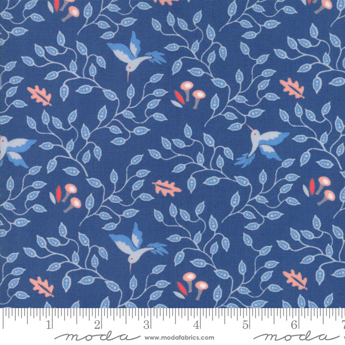 Bloomsbury Hummingbirds Dark Blue