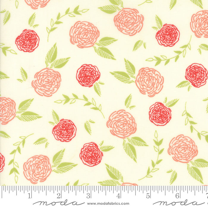 Creekside Roses Ivory Coral 37531 12