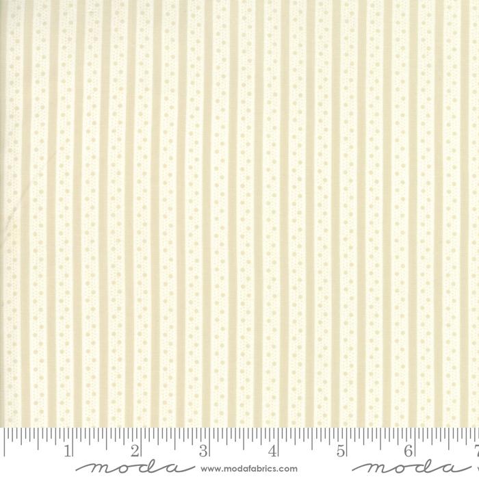 Caroline Linen White Ticking Stripe by Brenda Riddle for Moda 18656-14