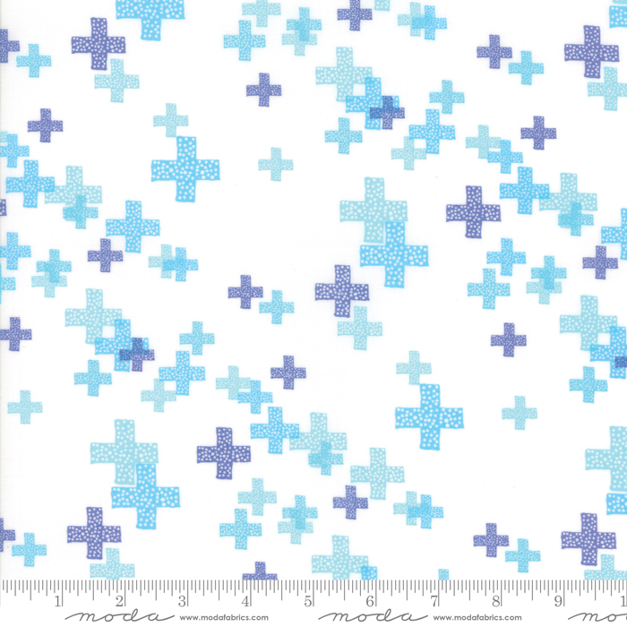 Item#11012.B - Modern Background Colorbox White Periwinkle - Moda - Zen Chic - Bolt# 11012.B