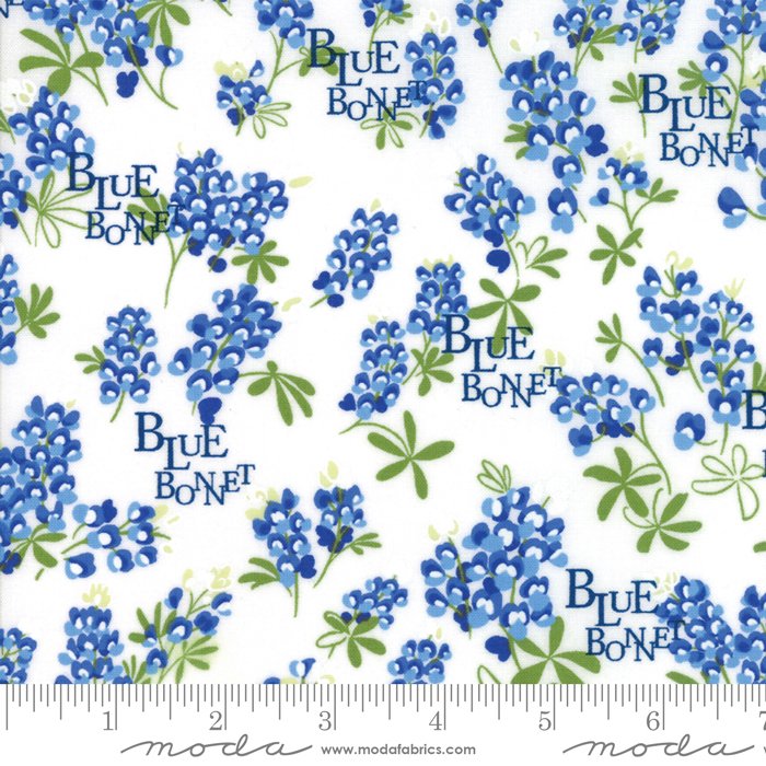 Bluebonnet Patch Ivory