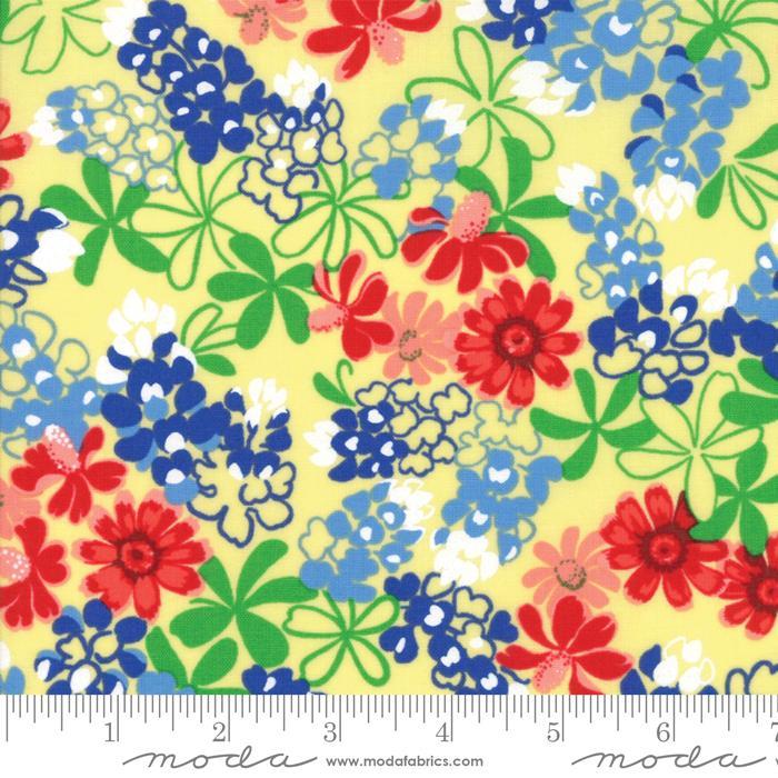 Bluebonnet Patch  Yellow Med Flowers