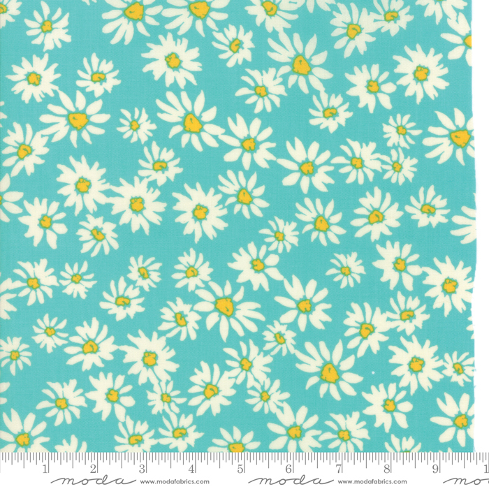 11812 15  Turquoise  Painted Garden  by Crystal Manning for Moda Fabrics