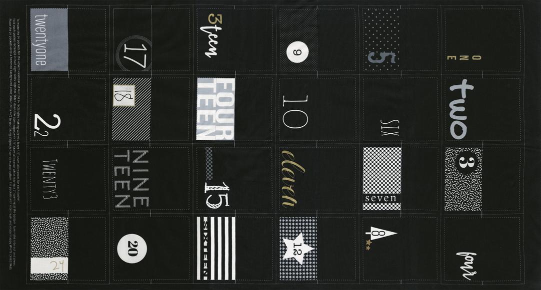 White Christmas Panel Black