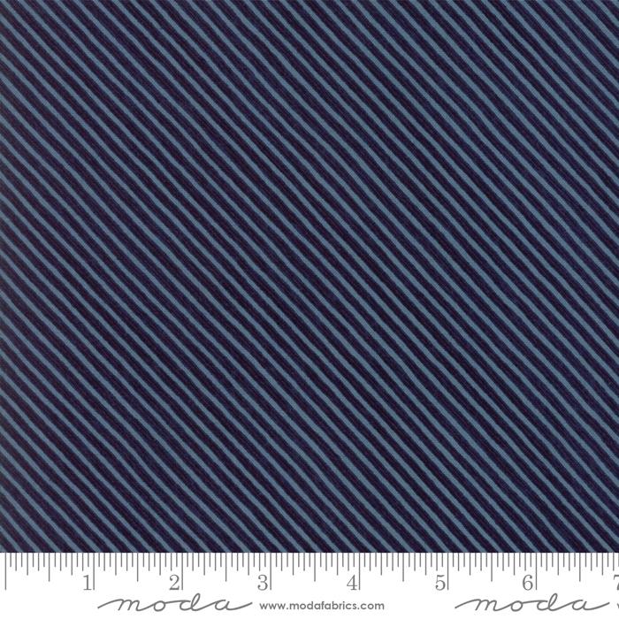 Wintertide Navy StripeDiagonal Blue Stripe on Navy