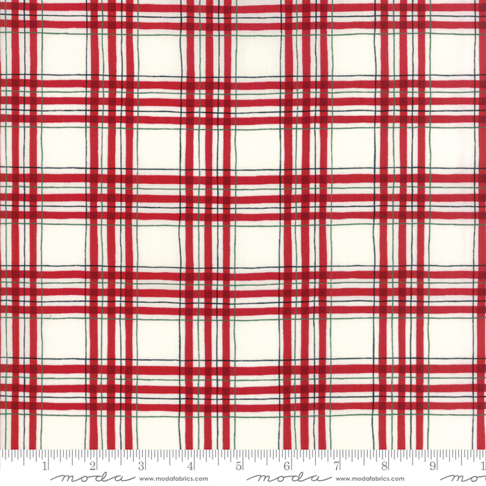 HEARTHSIDE HOLIDAY RED AND WHITE PLAIN 19835-12