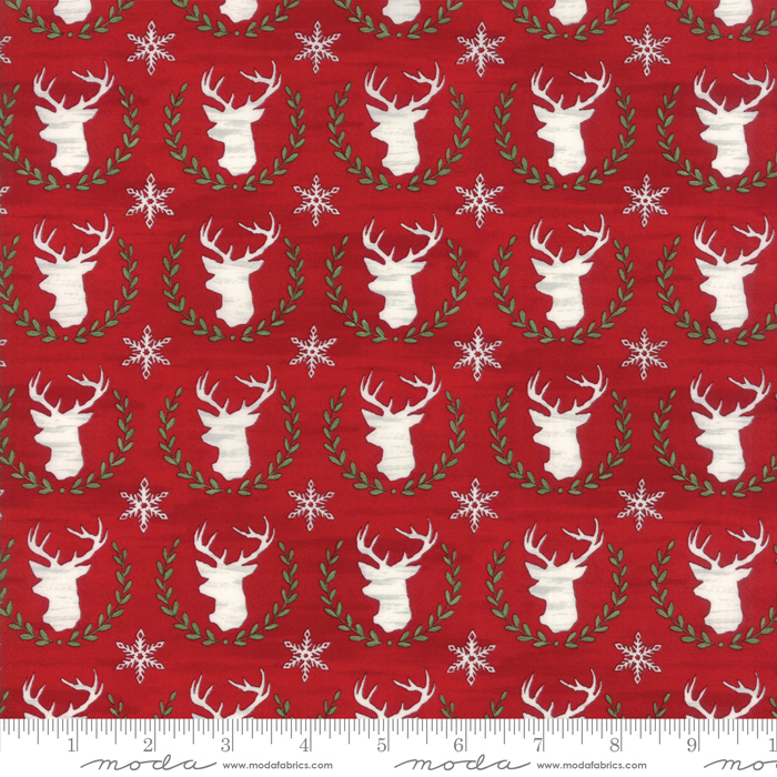 Hearthside Holiday Berry Red Brushed Cotton