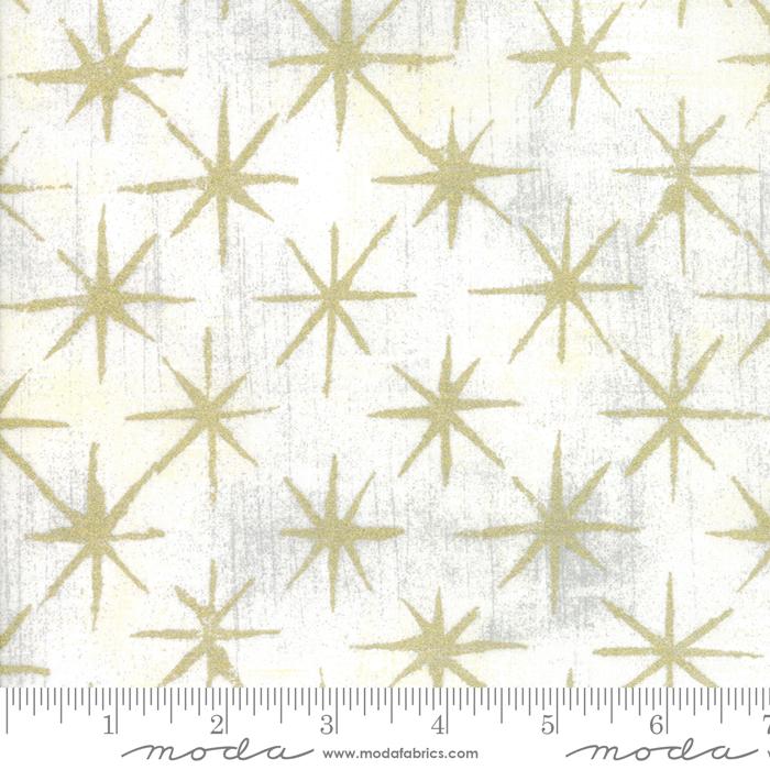 Seeing Stars Vanilla Metallic: Grunge Basics for Moda Fabrics