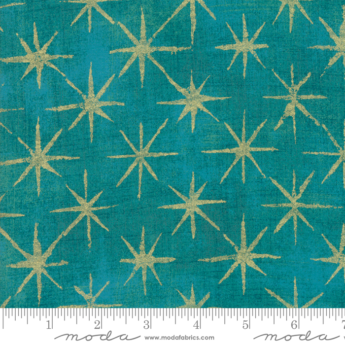 Seeing Stars Metallic Ocean : Grunge Basics for Moda Fabrics