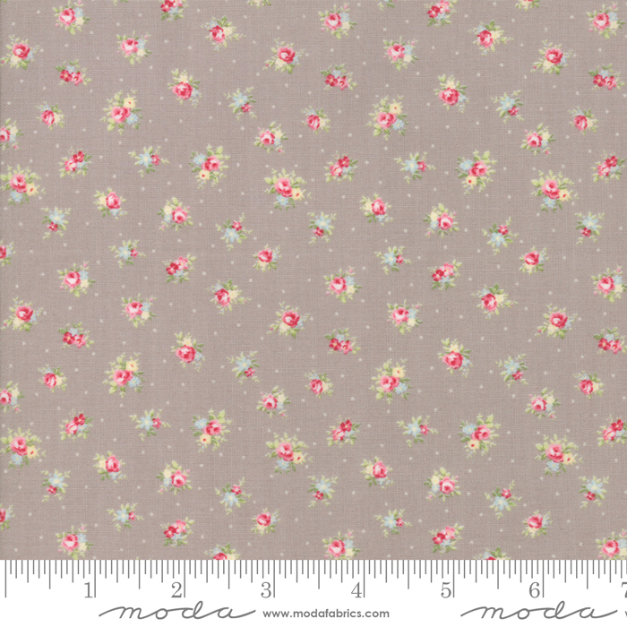 18671 16 Amberley Pebble Little Rose Polka Dots by Moda