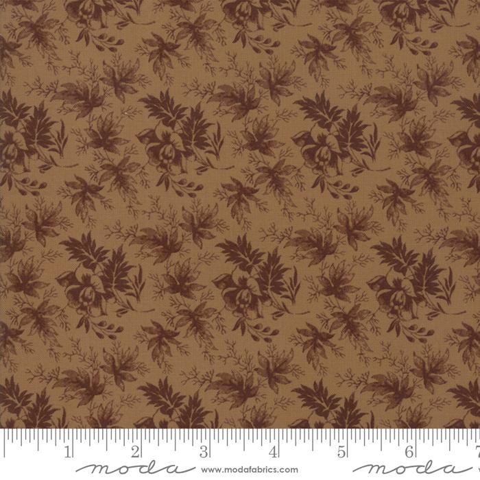Betsy Chutchian Harriets Hndwrk Brown Leaves on brown