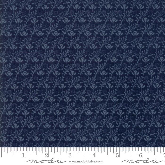 Fabric - Voysey 2018 Indigo - 7327 13