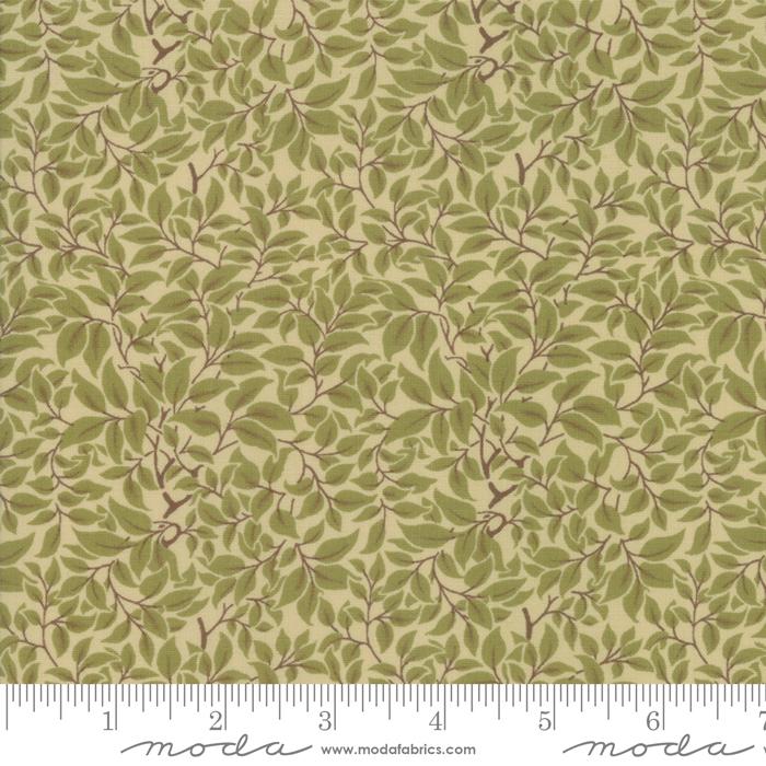 Fabric - Voysey 2018 Olive - 7328-18