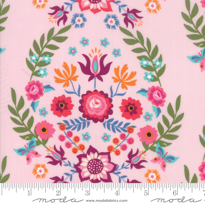 11820 12 Pink Rosa by Crystal Manning for Moda. 100% cotton 43 wide