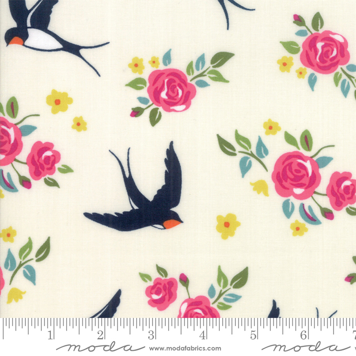 Rosa- Eggshell Birds with Floral