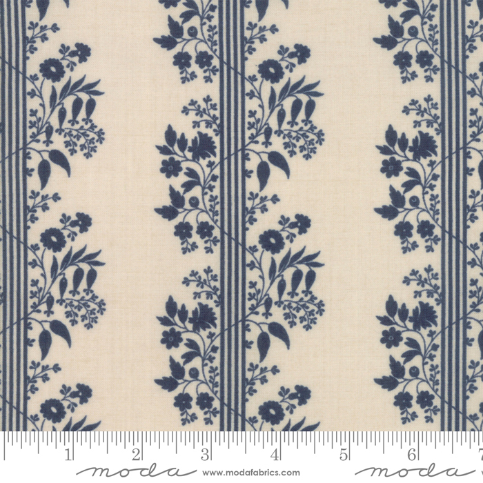 Fabric - Vive La France Pearl Indigo