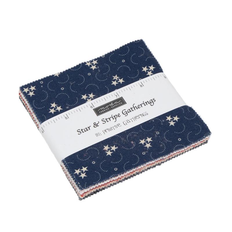 Star Stripe Gath Charm Pack