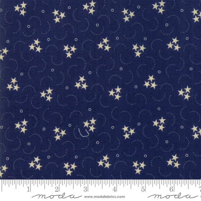 Star Stripe Gath Blue 1261-17
