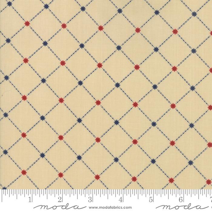 Star Stripe Gatherings Tan Star Grid