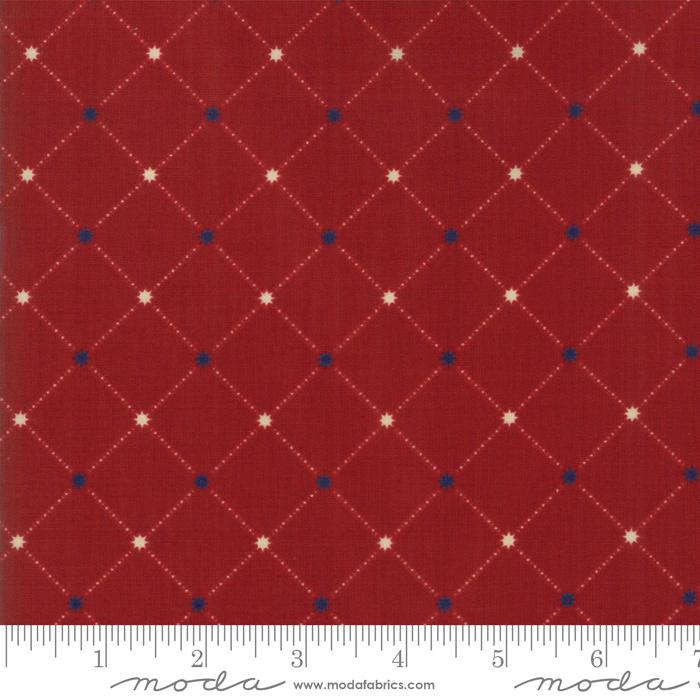 Star Stripe Gatherings Red Star Grid