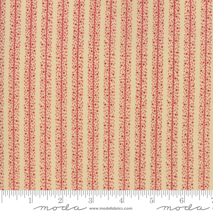 Star Stripe Gatherings Primitive Gatherings Tan Red 1268 13 Moda