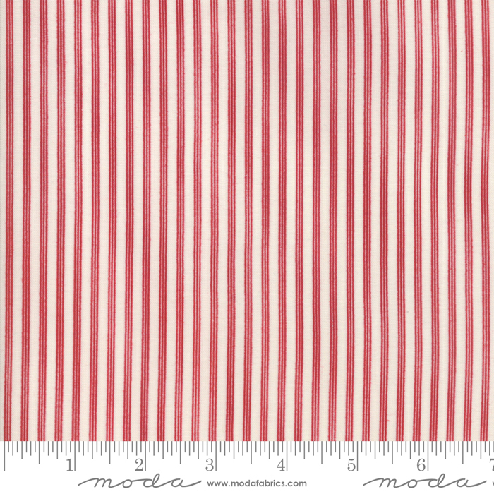 Star Stripe Gath Ivory Red