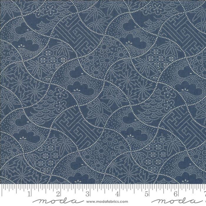533408-22 Boro Shashiko Vintage Blue