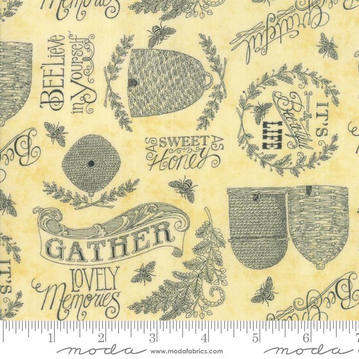 Bee Joyful -  Parchment - Bee Hives & words