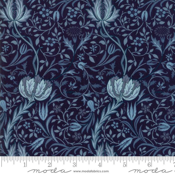 Morris Garden Flora -  Indigo - 7331-17