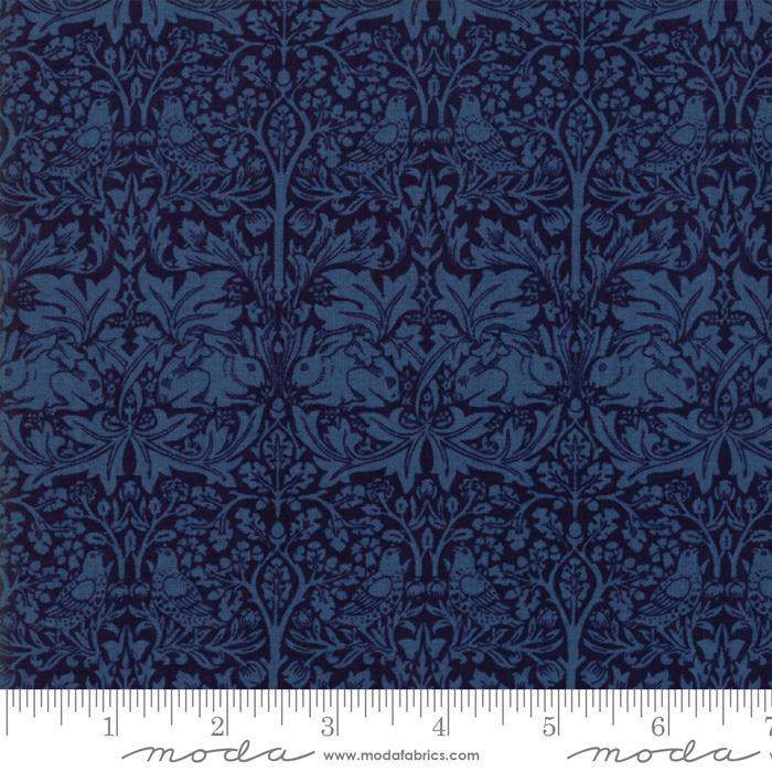 Moda - Morris Garden-Brother Rabbit 1882/Indigo - 7333 25