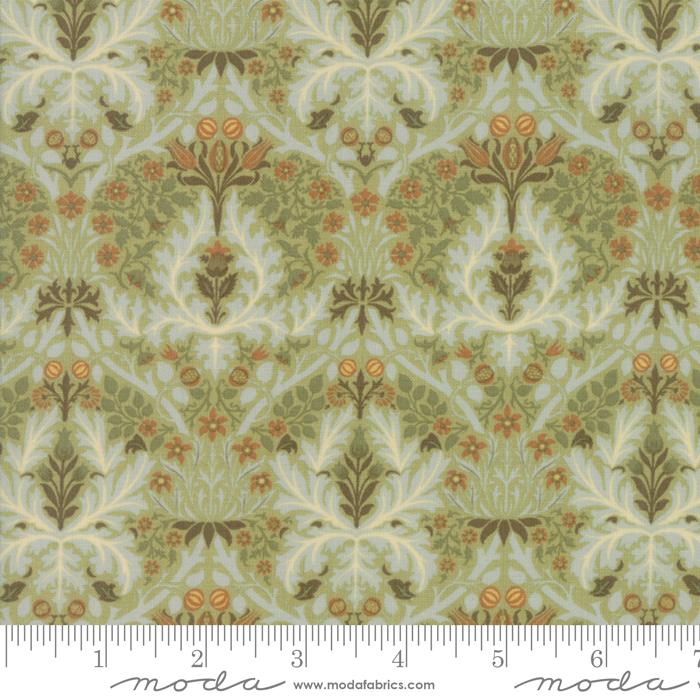 Morris Garden Autumn Flowers - Sage - 7334-15