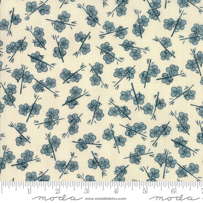 plum blossom in teal
