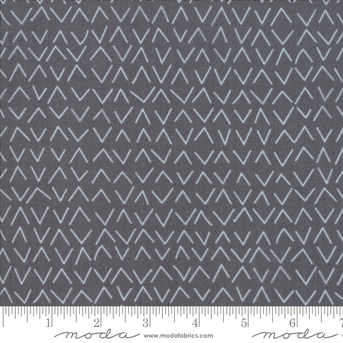 Beaks Fabric - Graphite Day In Paris Collection by Zen Chic for Moda Fabrics