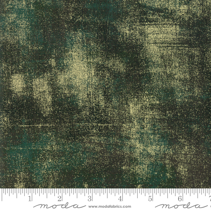 Grunge Christmas Green Metallic