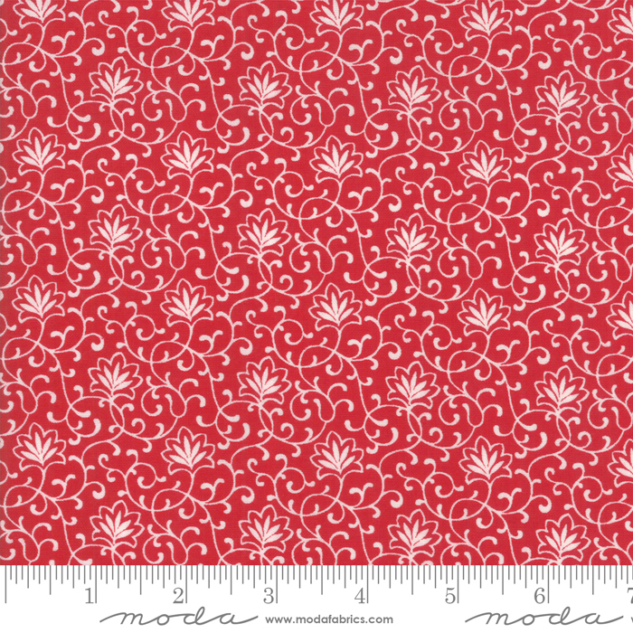 2955 11 My Redwork Garden Collection Red  background with white