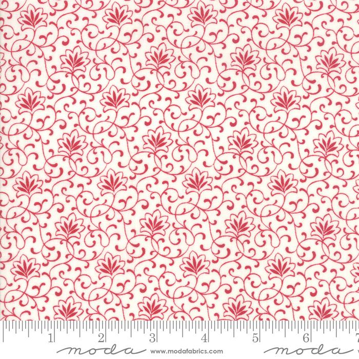 My Redwork Garden Cream Red