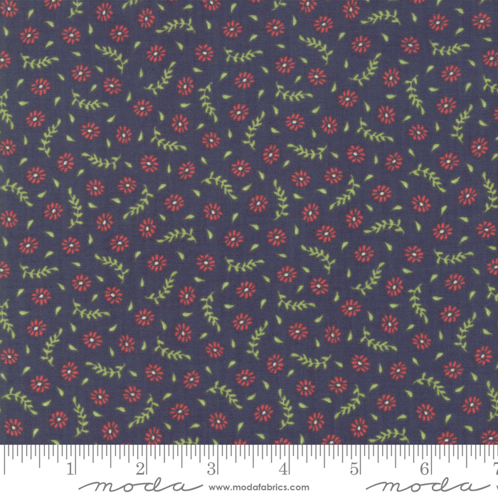 Harpers Garden -Tiny Floral - Navy