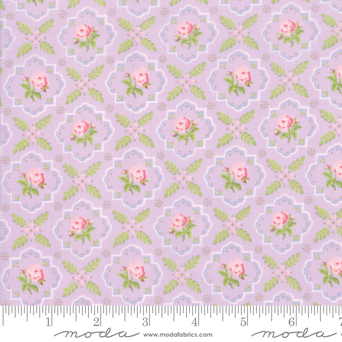 Finnegan Lilac Trellis by Brenda Riddle for Moda 18682-15