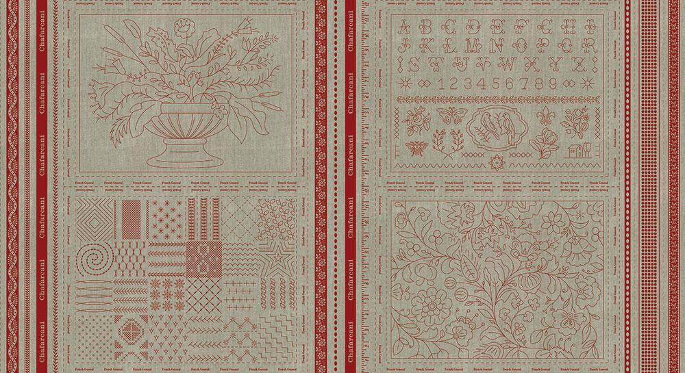 24 X 44 Chafarcani Linen Panel Rouge