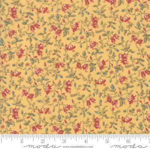 Fabric - Sarahs Story Butter - 31591 12