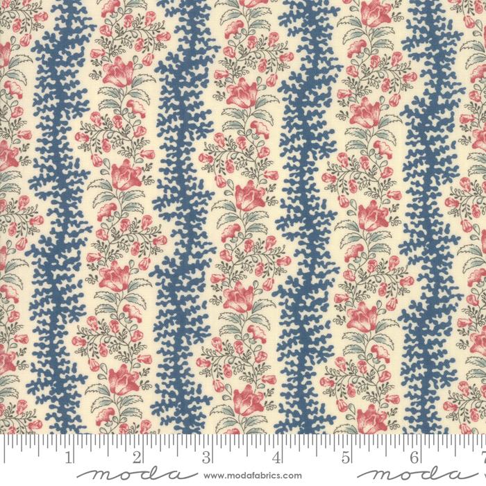Fabric - Sarahs Story Sweet Cream - 31592 12