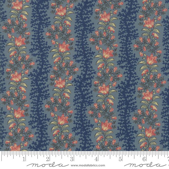 Fabric - Sarahs Story Indigo - 31592 17