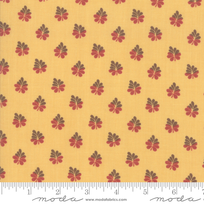 Fabric - Sarahs Story Butter - 31596 15