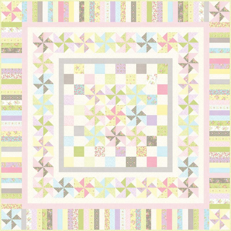 Finnegan Kit - Moda - Brenda Riddle Designs (Quilt Size 88 x 88)