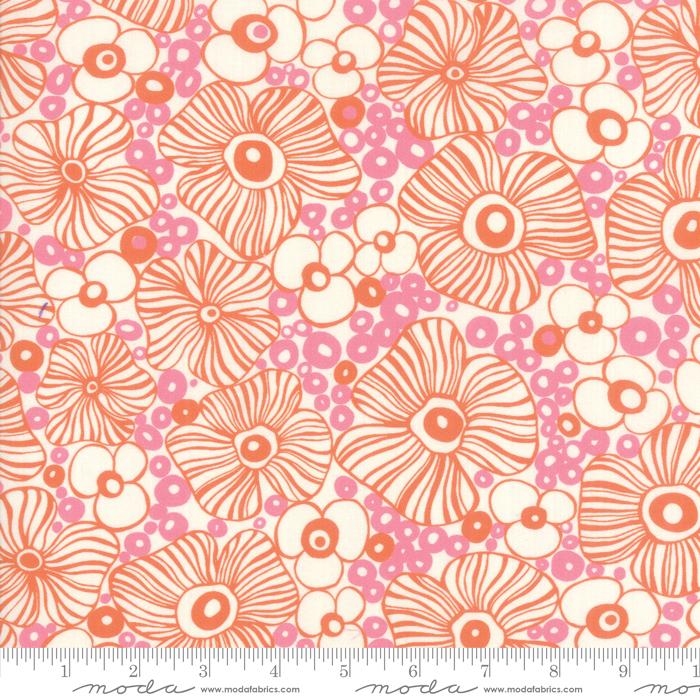 Botanica - 54 Floral Rayon, Peach Blossom - by Crystal Manning for Moda Fabrics