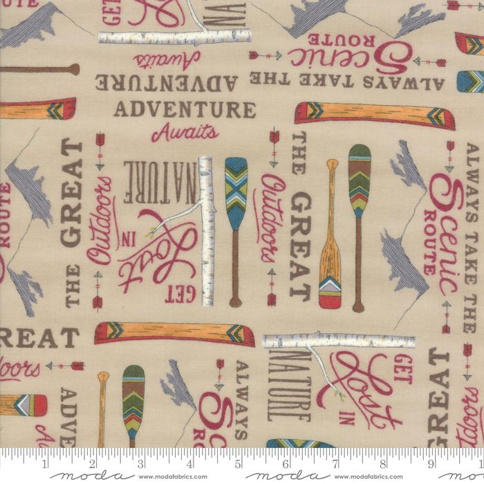 Moda Explore Brushed Flannel Khaki Tan 19911 12B