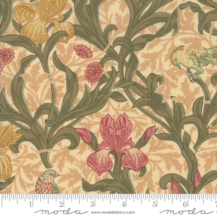 May Morris Studio Cream - 7340-11 - Iris 1887