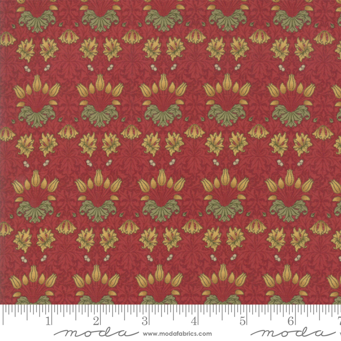 May Morris Studio Crimson - 7342-13 - Tulip 1900